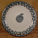 TIENSHAN FOLK CRAFT APPLE GREEN SPONGEWARE ROUND PLATTER *EUC*
