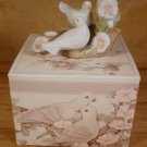 AVON ANNIVERSARY PORCELAIN TAPER HOLDER DOVES 1985 *MIB* *SHIPS FREE*