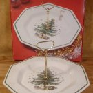 NIKKO HAPPY HOLIDAYS CHRISTMASTIME SERVING TRAY W/HANDLE