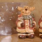NORTHWOODS MOOSE SALT & PEPPER SHAKER SET *NEW IN PACKAGE*