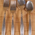 SUPREME STAINLESS U.S.A. IS SWIRL FLATWARE 4 PC LOT *EUC* *SHIPS FREE*
