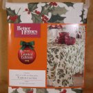 "BETTER HOMES & GARDENS HOLLY BERRY 60"" X 84"" TABLECLOTH *NEW*"