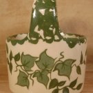 ALPINE POTTERY ROSEVILLE OHIO HANDLED IVY CROCK BASKET