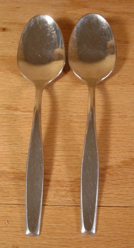 AMERICAN STAINLESS IS AMERICAN CHARM SERVING SPOONS - 2 - *SHIPS FREE*