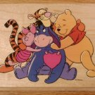 DISNEY ALL NIGHT MEDIA POOH & FRIENDS RUBBER STAMP *SHIPS FREE*
