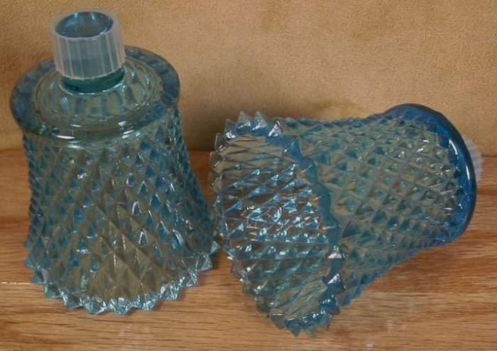 HOME INTERIOR BLUE DIAMONDLITE VOTIVE HOLDERS PEGLITES