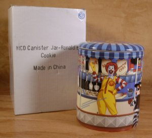 MCDONALDS CERAMIC 2007 COOKIE JAR RONALD & FRIENDS NEW IN BOX