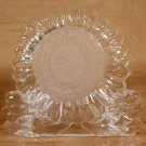 PARTYLITE HEAVY CRYSTAL SUNFLOWER TEALIGHT HOLDER + TEALIGHTS *EUC*