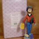 ENESCO BUYING TIME  WOMAN SHOPPING NUT CLOCK 836389 *MIB*