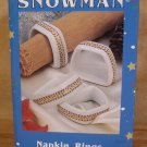 SAKURA DEBBIE MUMM SNOWMAN NAPKIN RINGS SET OF 4 *MIB*
