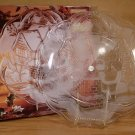 "CRYSTAL CLEAR STUDIOS 14¾"" SANTA SERVING PLATTER *NIB*"