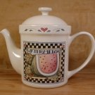 SUSAN WINGET CIC HARVEST FAIR WATERMELON TEAPOT *EUC*