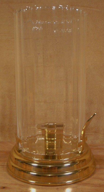 PARTYLITE BRASS & GLASS CHAMBER LAMP TAPER HOLDER *EUC*