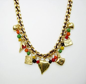 Golden Girly Charm Necklace