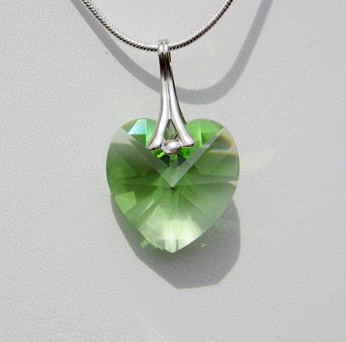 Peridot Swarovski Crystal Necklace