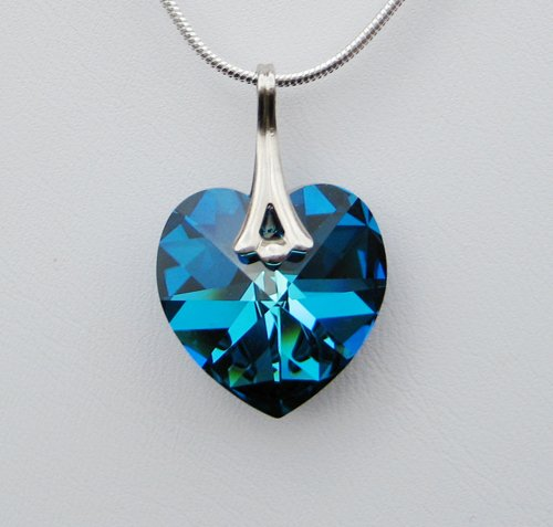 Bermuda Blue Swarovski Crystal Necklace