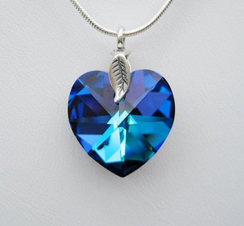 Bermuda Blue Swarovski Crystal Necklace