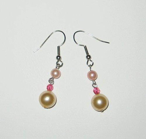 Baby Pink Pearl Earrings