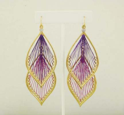 Interchangable Thread Earings: Pink & Purple