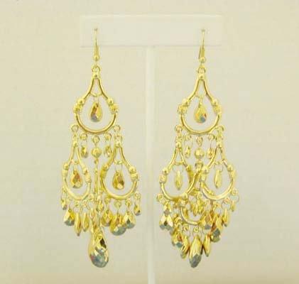 Golden Chandelier Earings