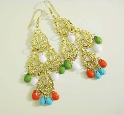 Colorful Chandelier Earings