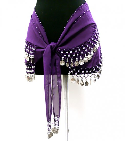 Belly Dancing Coin Belt: Purple
