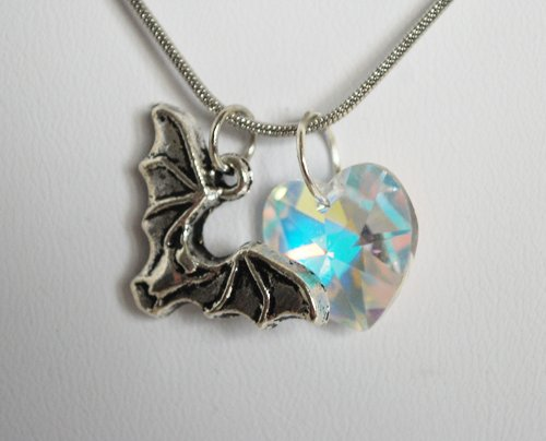 Swarovski Twilight Bat Necklace (Large Crystal AB)