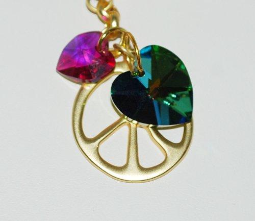 Love & Peace Swarovski Bracelet