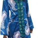 blue satin & sequin trim kaftan top Free size