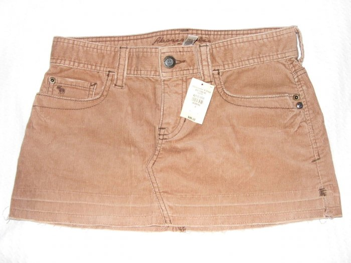 Abercrombie & Fitch low rise cord skirt size 0