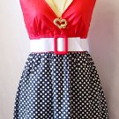 Vintage style adorale bubble mini dress small Jr