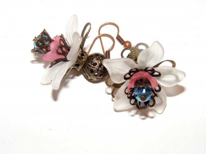 Vintage Blossom Handmade Flower earrings
