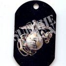 "ALUMINUM DOG TAG With 30"" CHAIN - USMC EGA Eagle, Globe & Anchor - NEW"