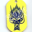 "ALUMINUM DOG TAG With 30"" CHAIN - Blue Dragon - NEW"