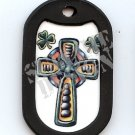 "ALUMINUM DOG TAG With 30"" CHAIN - Celtic Cross - NEW"