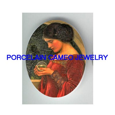 JOHN WATERHOUSE PRINCESS CRYSTAL BALL PORCELAIN CAMEO