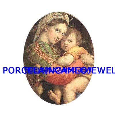 VIRGIN MARY HOLD BABY JESUS UNSET CAMEO PORCELAIN CABO