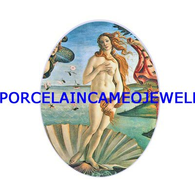 GODDESS THE BIRTH OF VENUS UNSET CAMEO PORCELAIN CABO