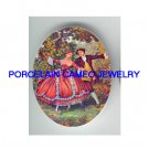 FRENCH COURTING DANCE COUPLE UNSET CAMEO PORCELAIN CABO