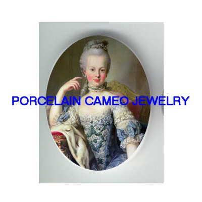 QUEEN MARIE ANTOINETTE YOUNG * UNSET CAMEO PORCELAIN CABOCHON