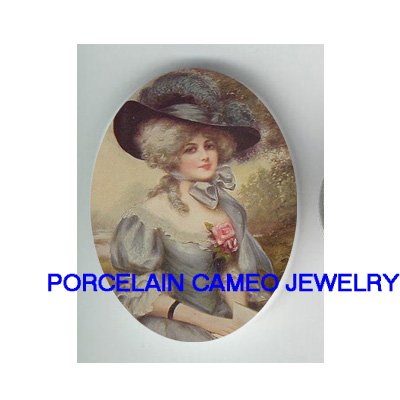 QUEEN MARIE ANTOINETTE  ROSE UNSET CAMEO PORCELAIN CABO