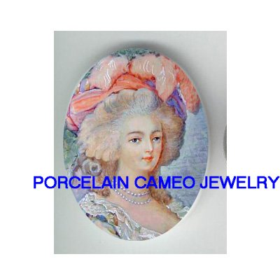 PINK QUEEN MARIE ANTOINETTE CAMEO PORCELAIN CABOCHON