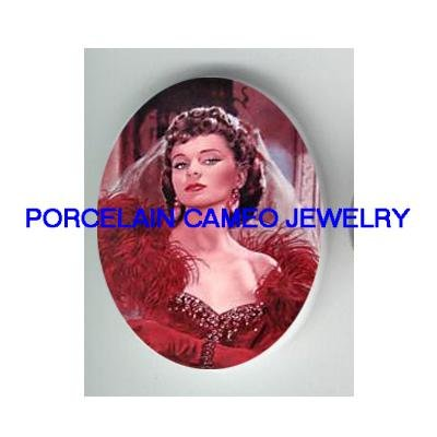 GONE WITH THE WIND IN RED SCARLETT PORCELAIN CAMEO