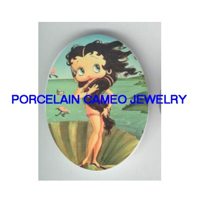 : GODDESS BETTY BOOP BIRTH OF VENUS CAMEO PORCELAIN CAB