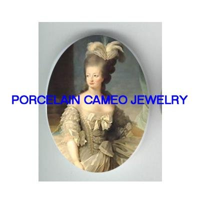 FRENCH  QUEEN Marie Antoinette* UNSET CAMEO PORCELAIN CAB
