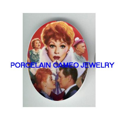 I LOVE LUCY* UNSET CAMEO PORCELAIN CABOCHON 30X40MM