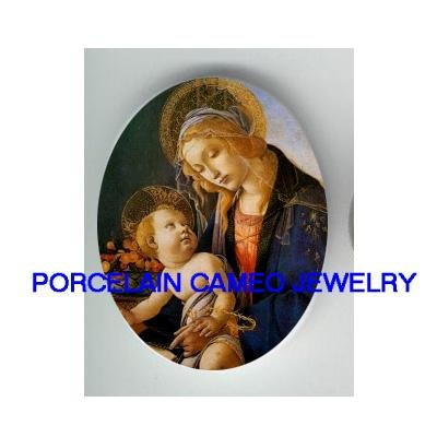 MADONNA AND CHILD MARY BABY JESUS* UNSET CAMEO PORCELAIN CAB