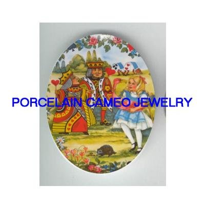 ALICE IN WONDERLAND UNSET CAMEO PORCELAIN 30X40MM