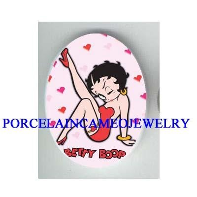 SEXY BETTY BOOP LOVE HEART  * UNSET CAMEO PORCELAIN CAB