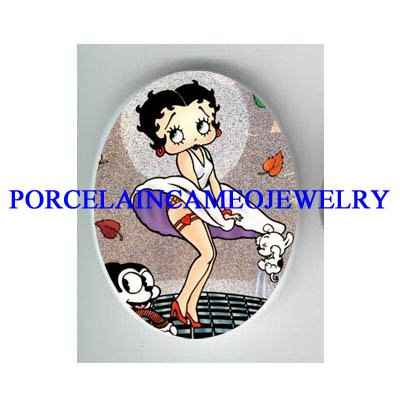 BETTY BOOP MOVIE STAR CAT DOG* UNSET CAMEO PORCELAIN CAB